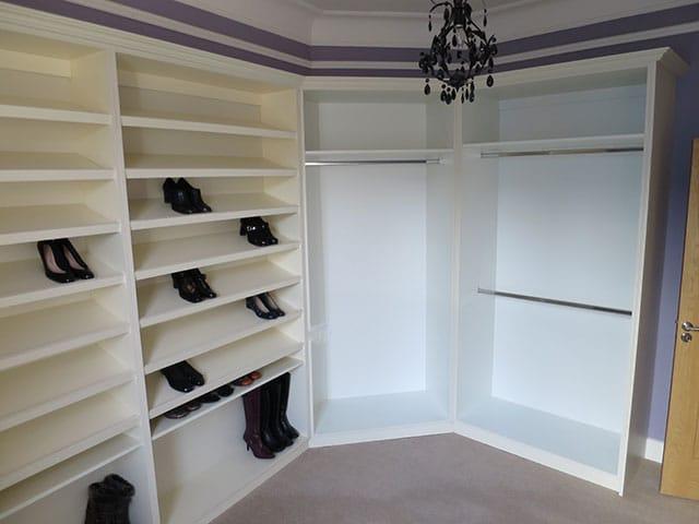 Wardrobe Interior Built in U-shaped room