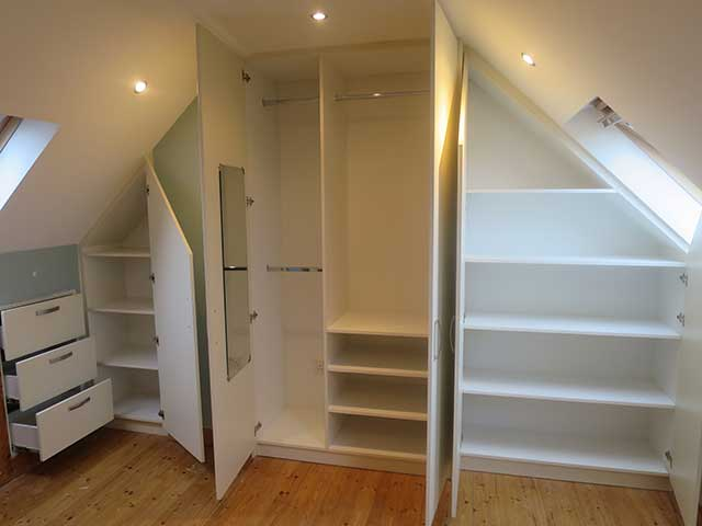 Interior of attic Wardrobe