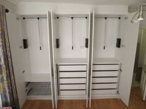 triple wardrobe interior