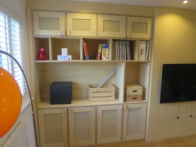 Birch hardwood ply living room unit